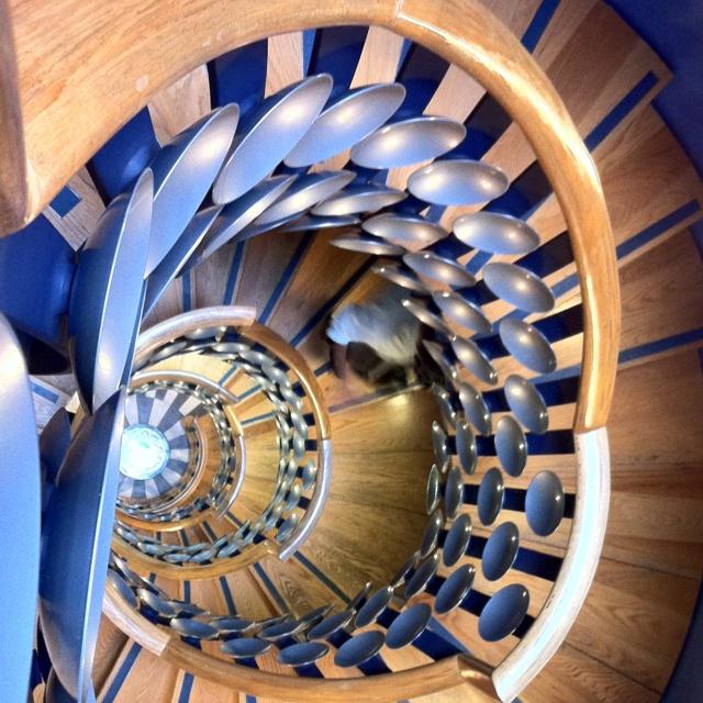 Spiral staircase at The Magic Circle