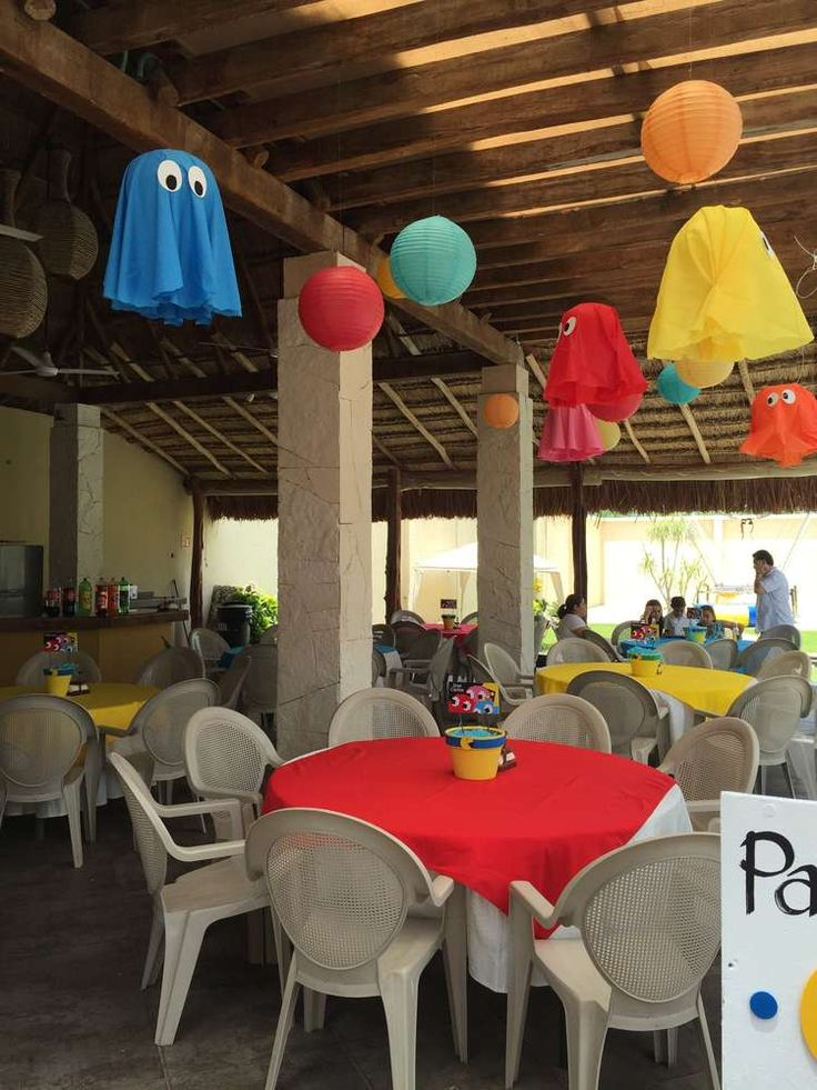PacMan Party Birthday Party Ideas | Photo 1 of 17 | Catch My Party