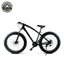 Fat bike 26-inch off-road mountain large crude tire damping super wide tires 4.0 snow bike Solid color beach Mountain Bike