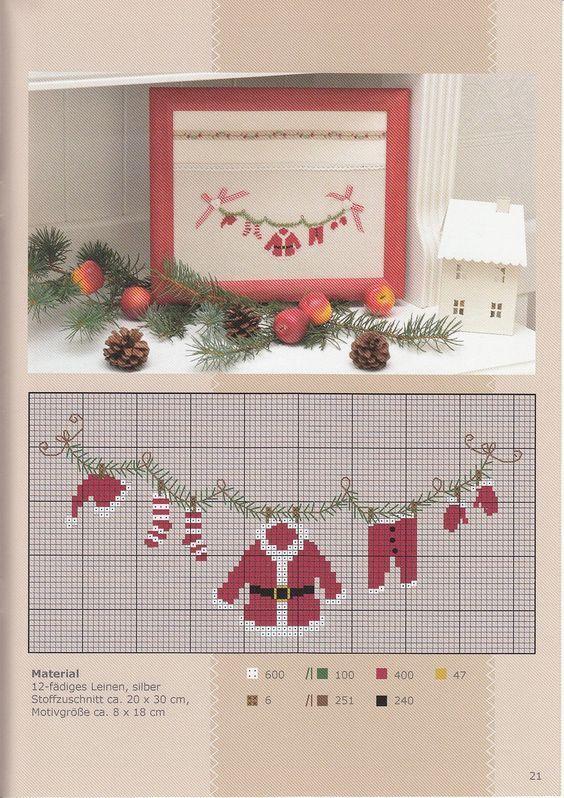 Die besten 25 weihnachten kreuzstich ideen auf pinterest weihnachten kreuzstichmuster - Pinterest weihnachten ...