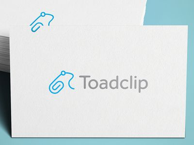 Toad Clip / logo / identity / branding / black and white / frog / shapes / office supplies
