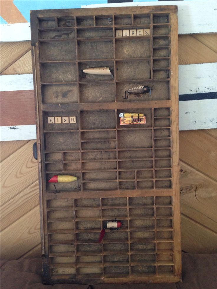 Typesetter drawer display fishing lures typesetter for Fishing lure display
