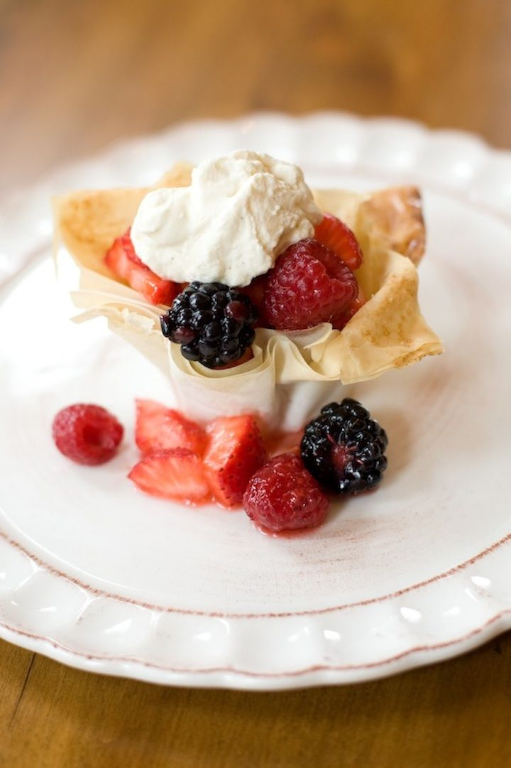 """A picture is worth a thousand words...but in this case perhaps more. This is The Organic Kitchen's """"Berries in a Pastry Basket""""! It's one of the most popular desserts I teach in my cooking classes here at The Organic Kitchen.It looks like a lot of work, but it isn't because we use pre-made organ"""