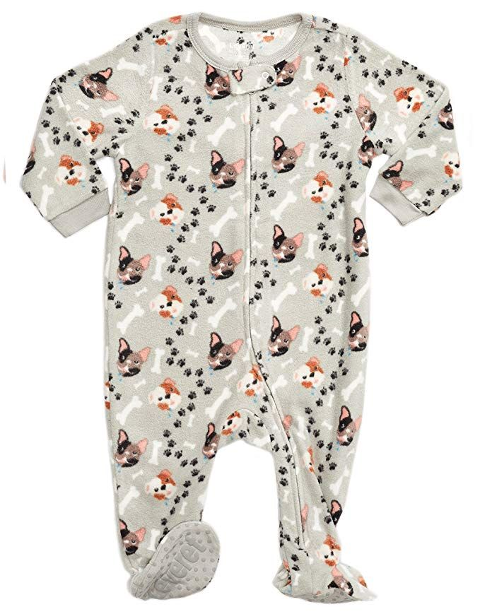 5f0ec6f220d0 Leveret Little Baby Boys Fleece Footed Sleeper Pajama Onsie (Size 6 ...