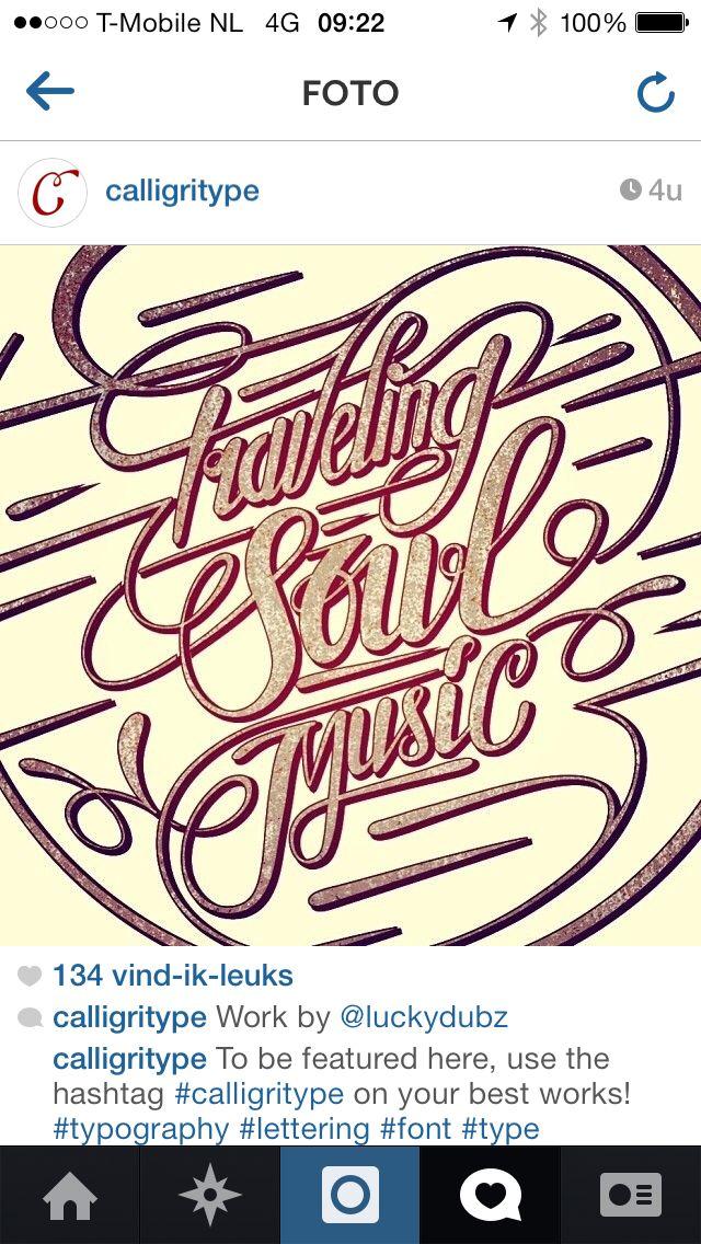 Traveling Soul Music type design