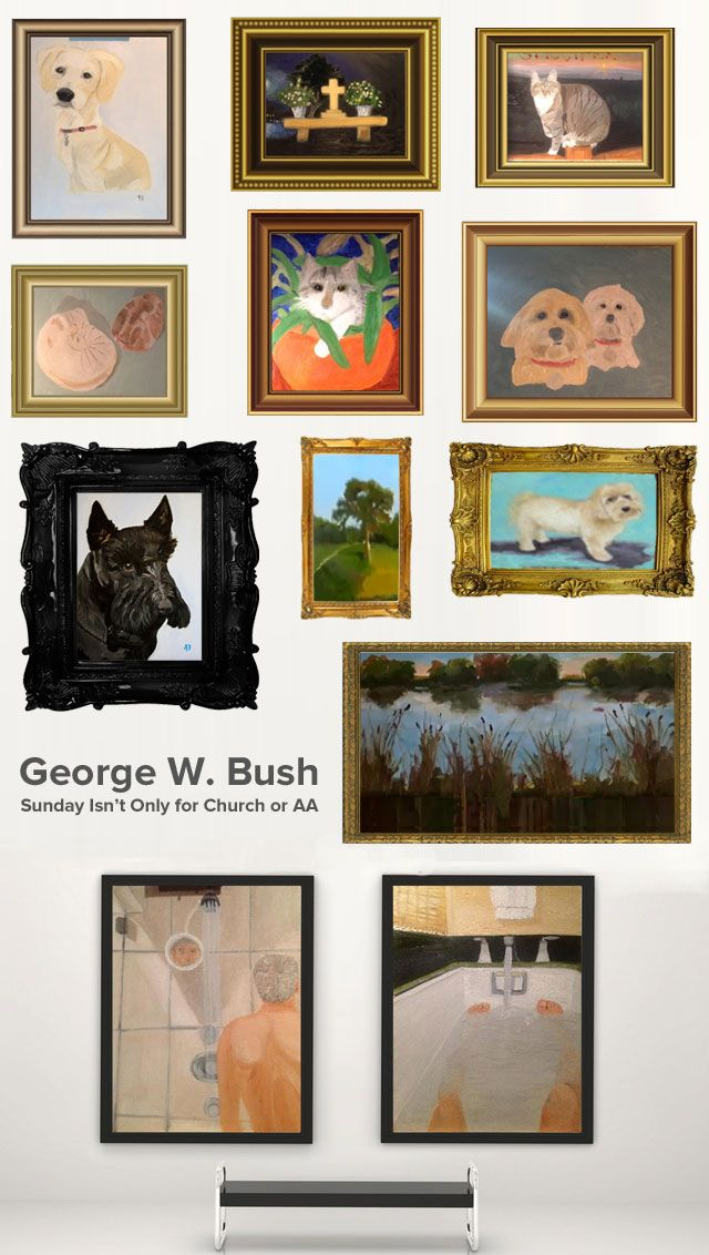 Presenting the First Ever George W. Bush Painting Retrospective  Now that former US President George W. Bush has been painting his retiremen...