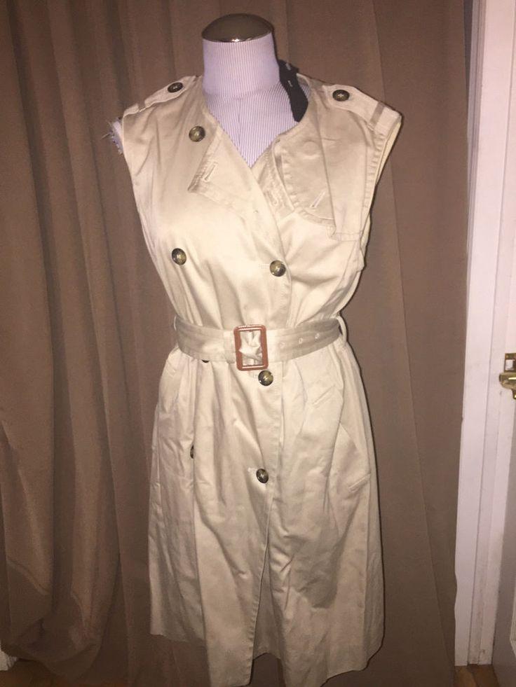Marc Jacobs NWT NEW khaki  Safari trench coat dress L $498 #marcjacobsBergdorfGoodman #classictrenchcoatdress #versatile