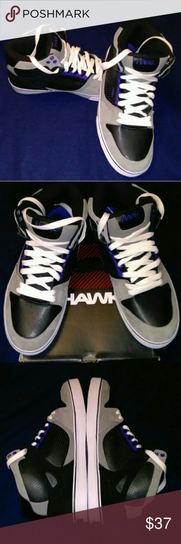 🆒🌟🆕🌟 Tony Hawk  Men's Shoes - 13 Men's NEW Tony Hawk Athletic Shoe (Reasonable offers considered)   🔹Size: 13  🔹Color: Black & Gray with       Ink-Blue & White Trim  🔹SAVE - Originally $69.99  🔹Upper: Suede/Leather       & Man-made  🔹Style: High Top Basketball/Skate  🔹 Brand New / Not Worn  🔹 In Original Box  🚀🚀Should ship within 12-24 hours of purchase! Tony Hawk Shoes Athletic Shoes