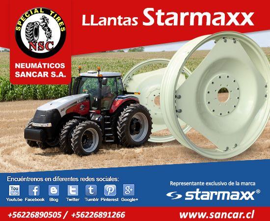 LLanta hortalicera agrícola marca Starmaxx Todos los neumáticos en www.sancar.cl  encuéntranos en redes sociales!!!