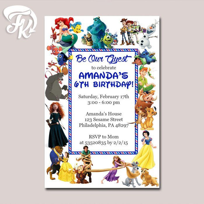 Best Birthday Invitation Card Images On Pinterest Party - Birthday invitation cards size