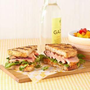 Try this delicious Grilled Tuna Sandwich with Lemon-Chili Mayo. Try this sandwich recipe warm, straight off the grill, or wrap it up and pack it in a cooler for a picnic dinner. @EatingWell