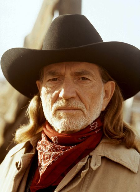Yep, Willie Nelson. Ever since I kissed him (on the lips!) in Las Vegas about ten years ago he's been one of my loves. :)
