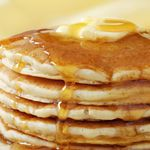 Applesauce Pancakes  Calories - 74 Carbohydrates - 11.5 Saturated Fat - 0.4g Protein - 3g Sodium - 143mg Dietary Fiber - 0.6g