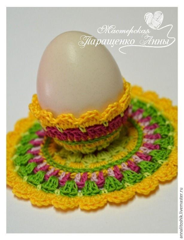 Праздничная подставка для яиц. Пошаговый мастер-класс с фотографиями и схемами