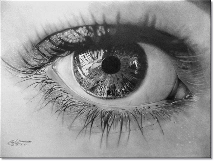 Desenho Realista Olho detalhes