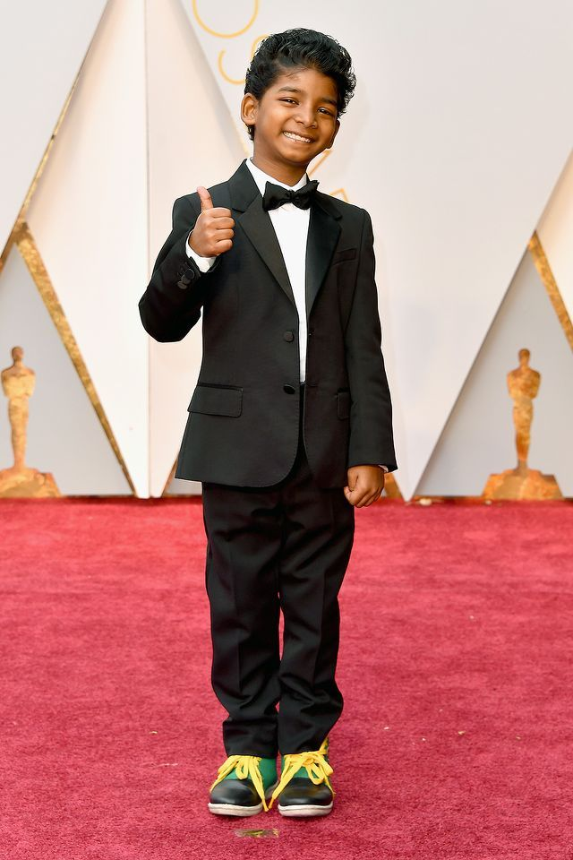 #oscarfashion Actor Sunny Pawar attends the 89th Annual Academy Awards at Hollywood & Highland Center on February 26, 2017 in Hollywood, California. (Photo by Steve Granitz/WireImage) </p>