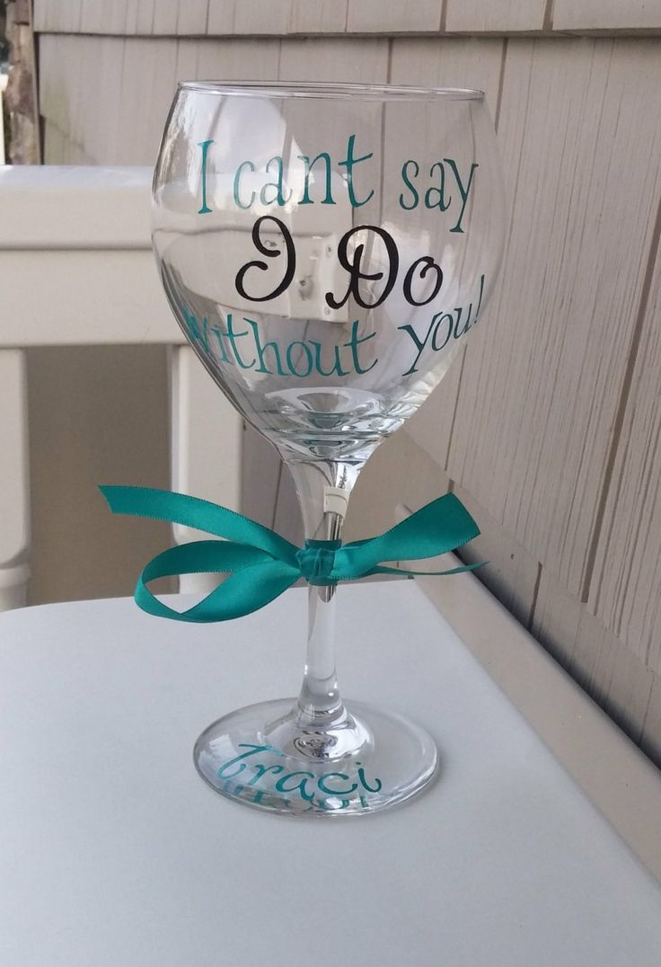 Bridesmaid Proposal Glasses  Will You Be My by WeddingsByLeann, $10.00