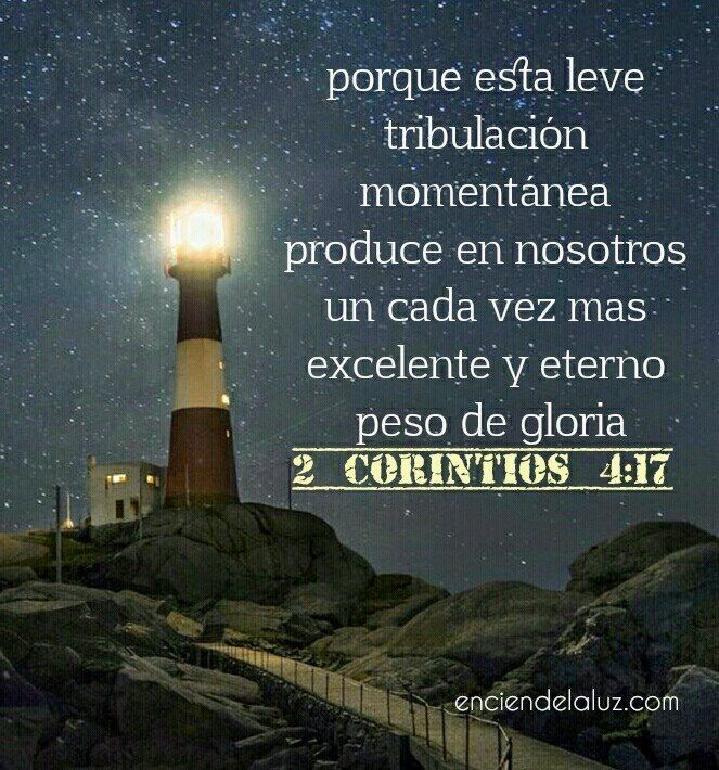 2 Corintios 4:17 | 2 corintios, Palabra de dios, Frases motivadoras