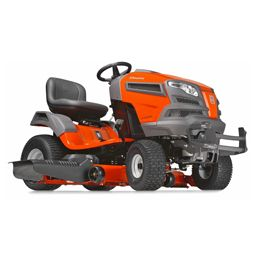 Husqvarna YT54LS:We developed our LS series yard tractors with the discriminating landowner in mind. Engineered for added durability, comfort, style and precision, our LS series yard tractors all feature fabricated or reinforced decks and a heavy-duty chassis. The efficient, integrated washout port and optional mulch kit make these models ideal for demanding and extensive use. Then the available locking rear differential increases traction while cutting wet grass or on slopes.