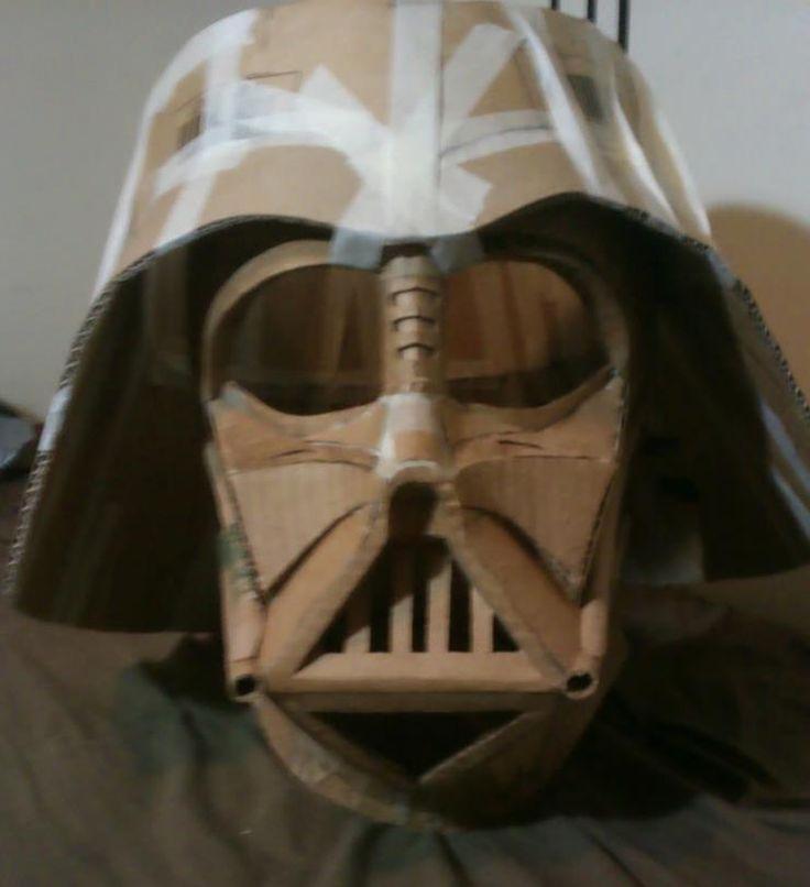 Oversized 1:1.5 Darth Vader helmet.