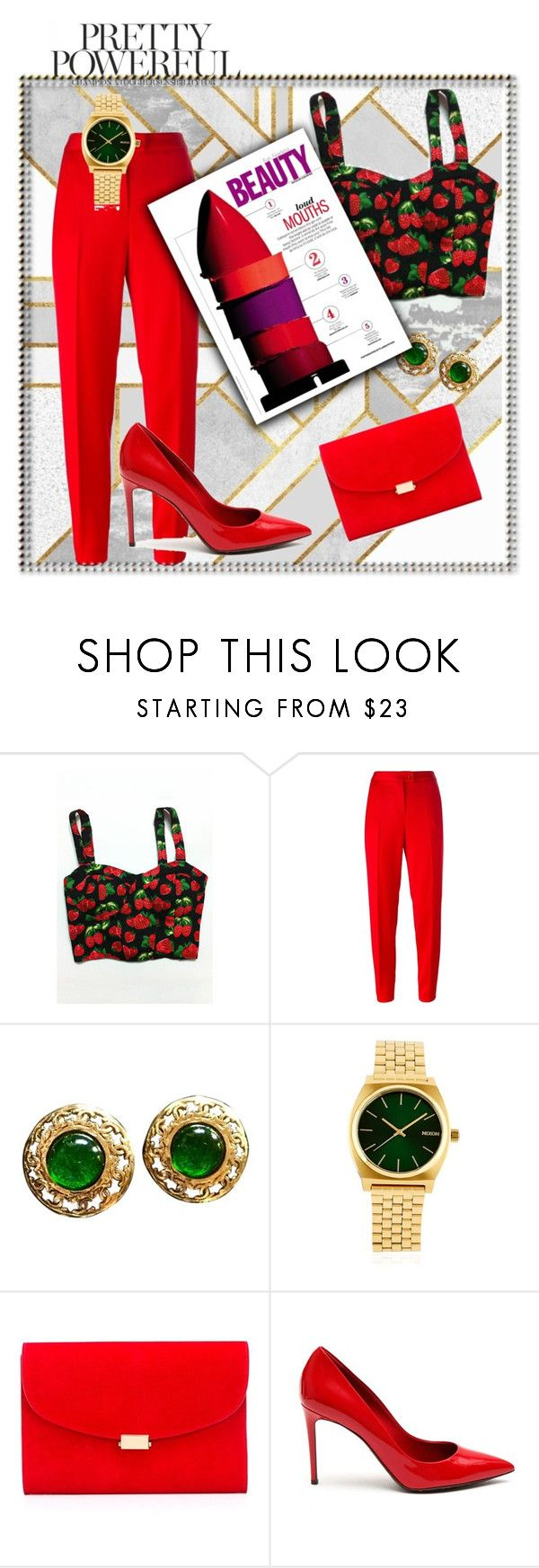 Без названия #3 by chekmazova on Polyvore featuring мода, Boutique Moschino, Dolce&Gabbana, Mansur Gavriel, Chanel and Nixon