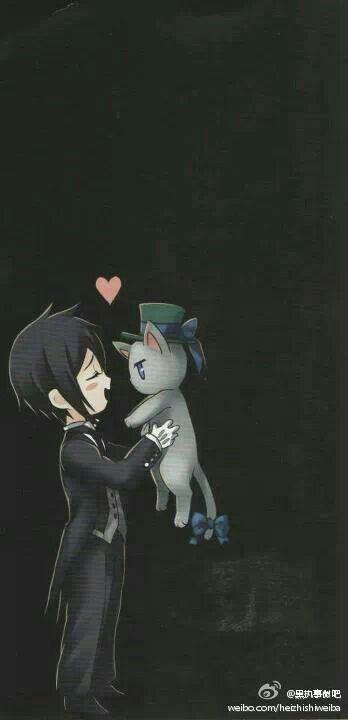 Sebastian-- he doesn't always show his kawaii-desu ne side, but when he does, he does it right. :]