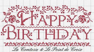 Makes a lovely birthday gift. Stitched on linen w/quilted border
