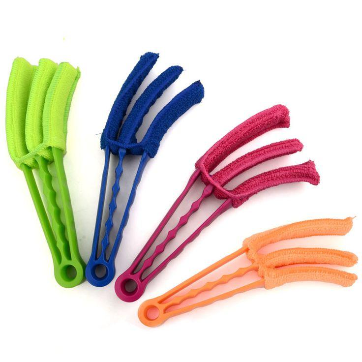 2016 Venta Caliente Multifuncional de Limpieza Brushs Para Persianas Obturador de Aire Acondicionado Cepillo Brecha Esquinas De Limpieza Lavable Cepillo Clip