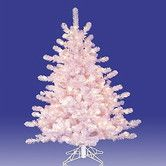 Found it at Wayfair - Crystal 3' White Artificial Christmas Tree with 70 Pre-Lit Clear Lights with Stand