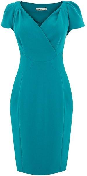 Karen Millen England Elegant Tailored Crepe Dress     dressmesweetiedarling