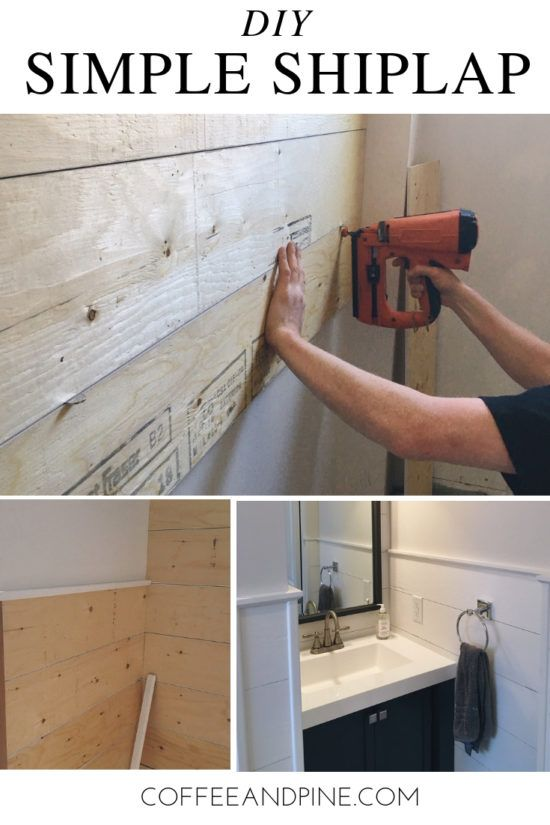 DIY Simple Shiplap