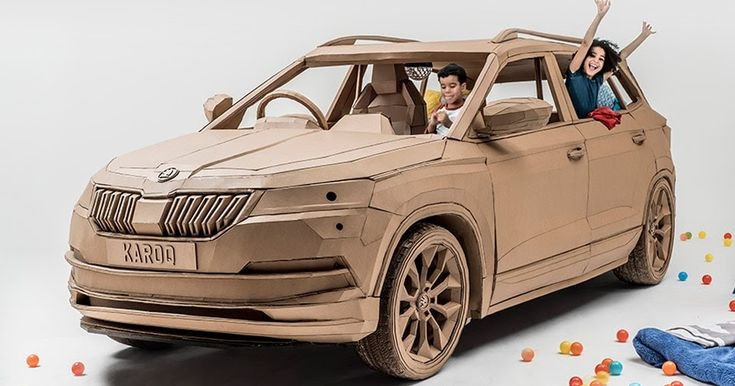 Skoda Makes A Karoq Out Of Cardboard (You Know, For The Kids) #Games #Skoda
