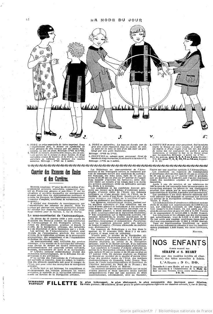 Septembre 1925 La Mode du jour