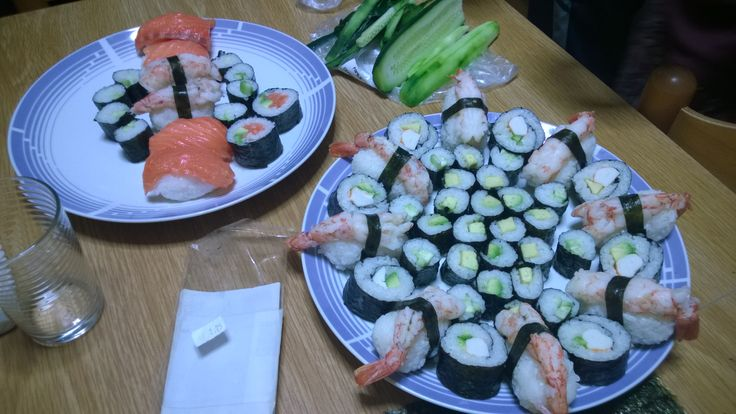sashimi, futomaki, Hosomaki......mmmmmm