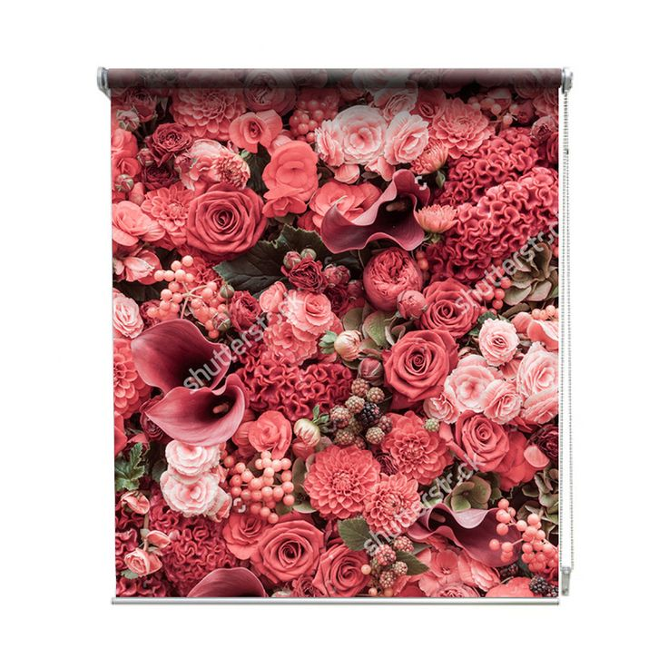 Rolgordijn Rood boeket | De rolgordijnen van YouPri zijn iets heel bijzonders! Maak keuze uit een verduisterend of een lichtdoorlatend rolgordijn. Inclusief ophangmechanisme voor wand of plafond! #rolgordijn #gordijn #lichtdoorlatend #verduisterend #goedkoop #voordelig #polyester #boeket #rood #roze #bloemen #bloem #natuur #romantisch #liefde