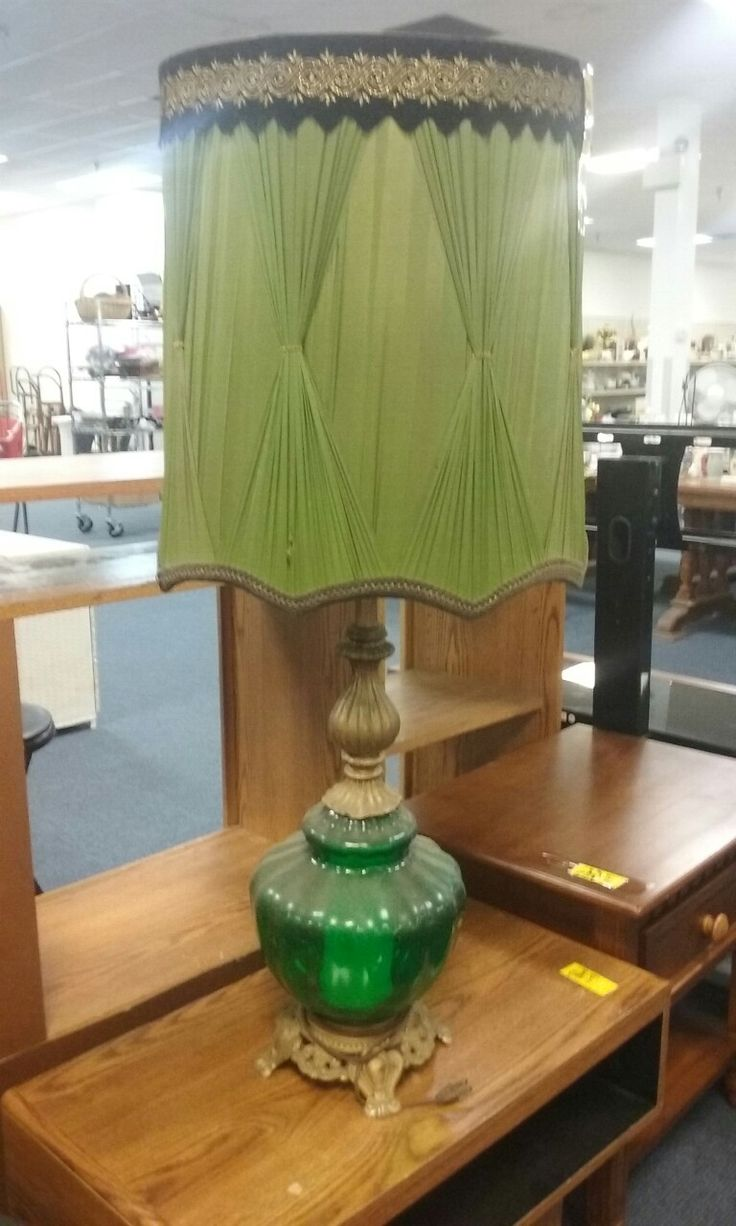 Green lamp and green lamp shade, that's a lot of luck