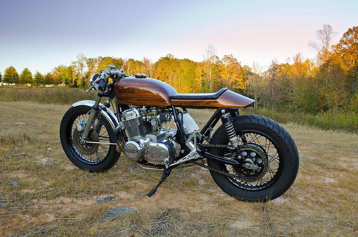 Retaining Retro - 'Woody' Honda CB750 cafe racer - via returnofthecaferacers.com
