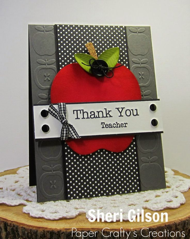 Paper Crafty's Creations :  Teacher Thank You card (MFT Big Greetings; PTI School Time Additions; Applie Die-namics; Quickutz Apple EF)