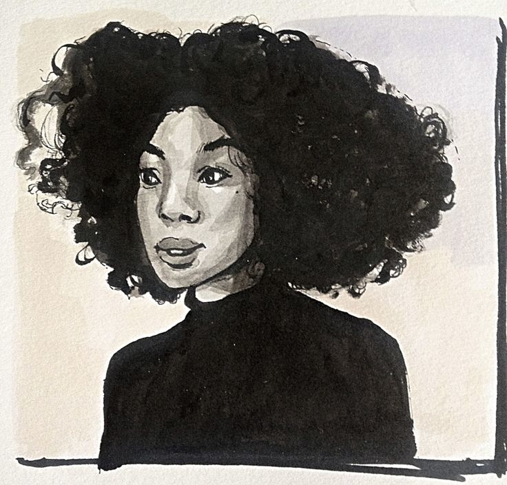 Phenomenal hair, couldn't resist drawing this beauty. #Portrait #drawing