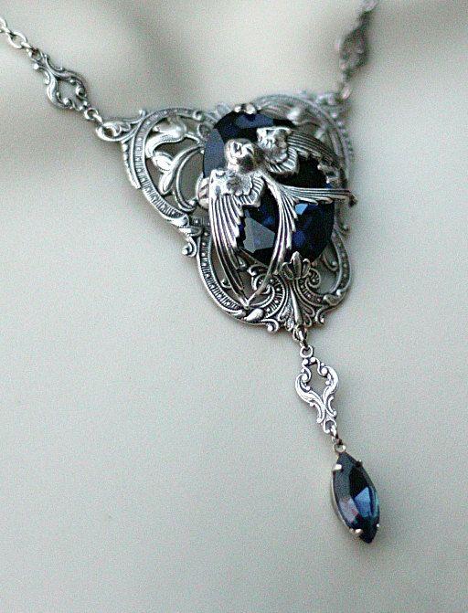 WANT!!!!!!!!---->Harry Potter Rowena Ravenclaw's Diadem Inspired Necklace. $37.00, via Etsy.
