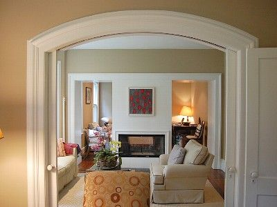 Nicely Done...would Like Open Arched Doors Between Front Room And Kitchen/