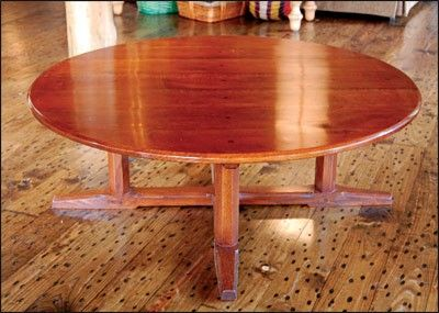 Arts And Crafts Round Table Digital Plan Coffee Tables