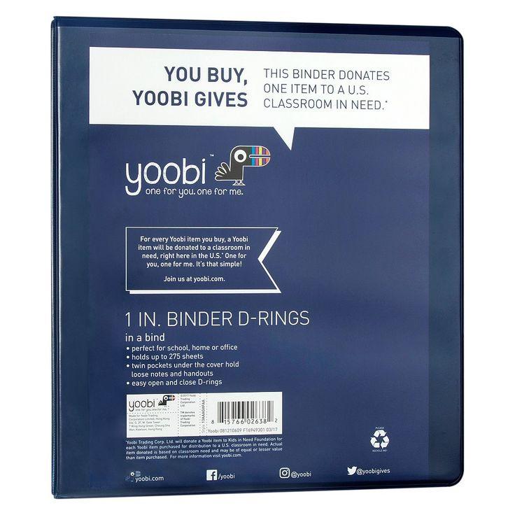 Yoobi 1 3 Ring Binder Navy (Blue)