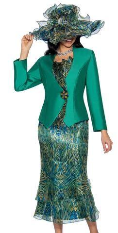 Church Suit G1051-Green