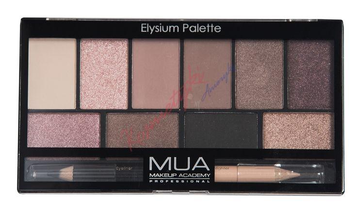 MUA Eyeshadow Palette Paleta 10 Cieni Do Powiek + Kredka Do Oczu Elysium Palette 116850 cena 29.99 zł | Kosmetyki z Ameryki - Tanie Kosmetyki Online