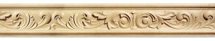 naples carved wood frieze molding