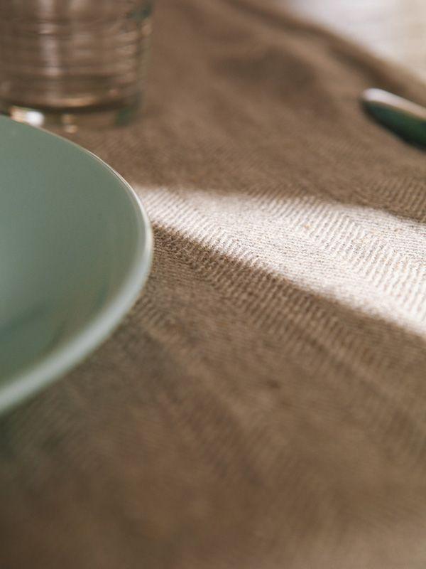 Tovaglia 100% Lino Naturale Rettangolare | Coquelicot Design