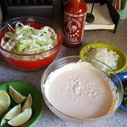 Fish Taco Sauce - Allrecipes.com - perfect!