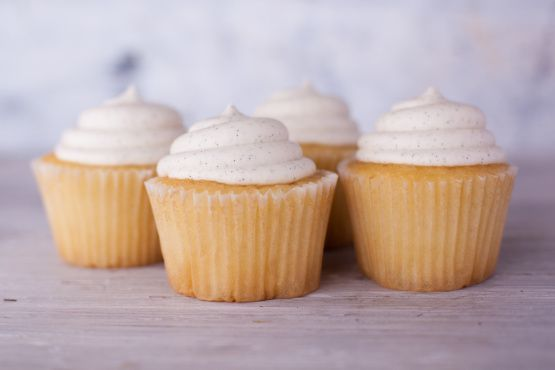 This Vanilla Buttercream Frosting has the perfect texture and sweetness to impress everyone at the next bake sale.