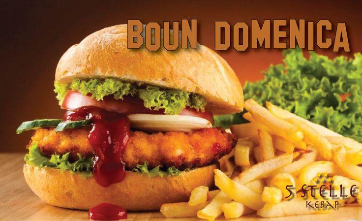Volete gustare il cibo americano di questo fine settimana? Prova #Hamburger di 5 Stelle Pizza & Kebap su questa Domenica. Boun Boun Americano. Consegna a domicilio disponibile. grin emoticon wink emoticon #Hamburger #CamisanoVicentino #Domenica #Americano